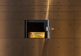 gold bar in vault