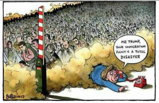 merkel cartoon