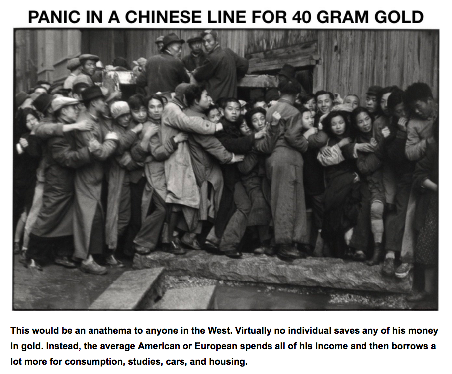 chinese gold line