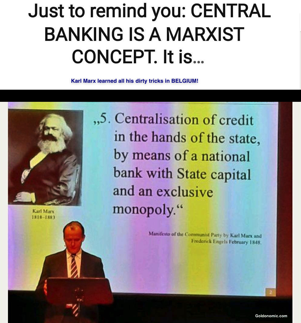 central banks marx