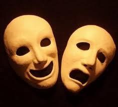 Masque de la tragédie grecque